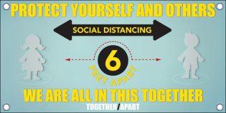 COVID-19: Social Distancing Banner (Children)