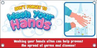 COVID-19: Hand Washing Banner (Children)