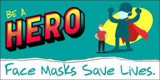 COVID-19: Wear Face Masks Banner (Children)