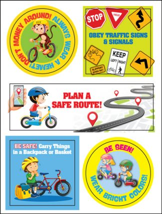 Wheel Safety Sticker Sheet