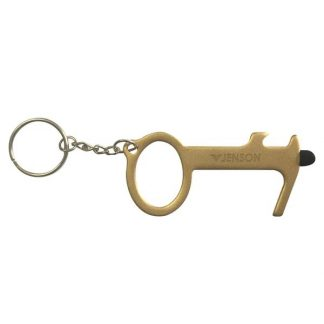 Custom Brass Door Opener With Bottle Opener & Stylus