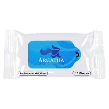 Custom Antibacterial Wet Wipe Packet