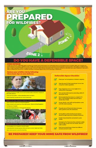 """Defensible Space - Are You Prepared for Wildfires?"" Tabletop Display"