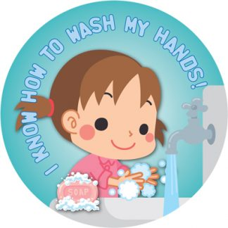 """I Know How to Wash My Hands!"" Sticker"