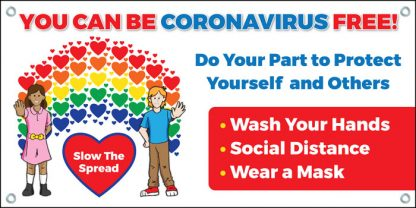"""You Can Be Coronavirus Free!"" Banner"