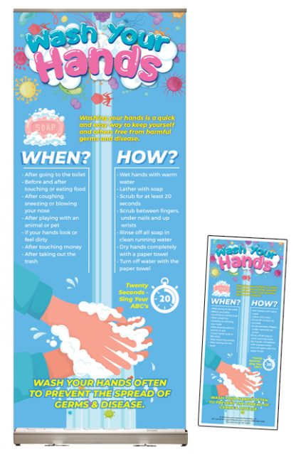 """Wash Your Hands"" Presentation Display Package"
