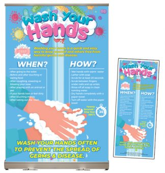 """Wash Your Hands"" Tabletop Display Package"