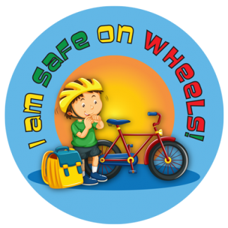 wheel safety sticker for kids