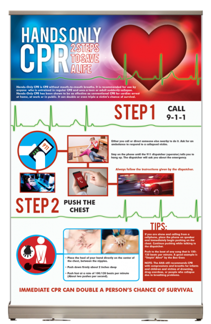 Hands Only CPR Tabletop Display