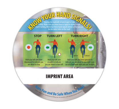 """""""Safe on Wheels: Bikes, Blades and Boards"""" Information Wheel (Back)"""