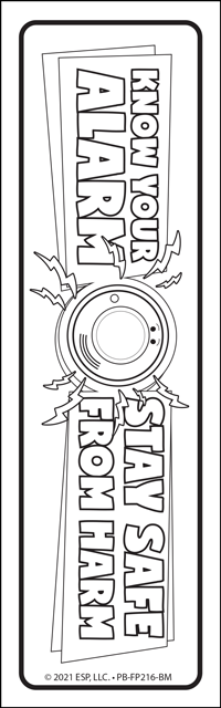 fire prevention week coloring bookmark