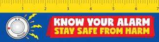 fire prevention week ruler bookmark