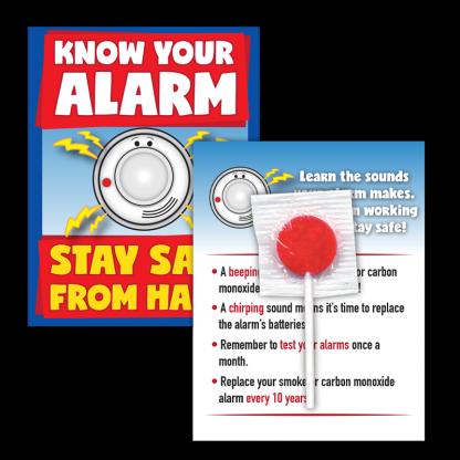 fire prevention week lollipop card