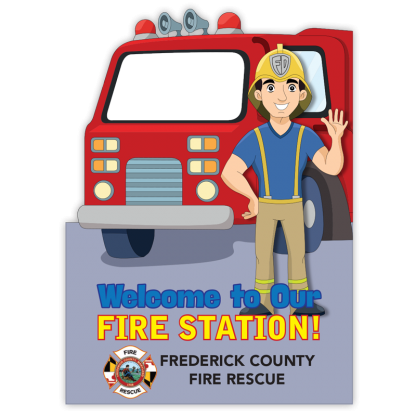 """""""Welcome to Our Fire Station!"""" Photo Prop"""